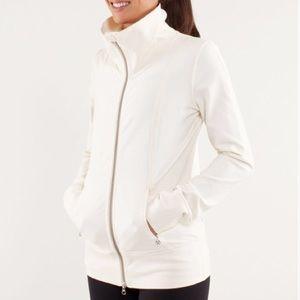 NWOT Lululemon Cream High Neck Jacket
